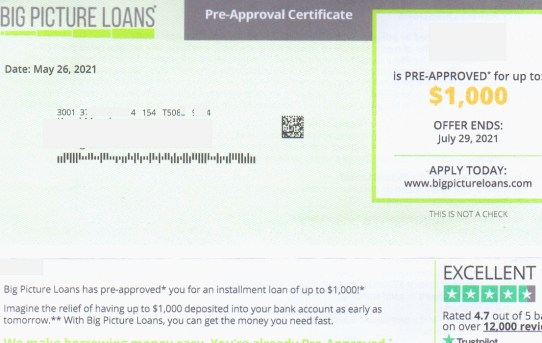 Big Picture Loans Scam!