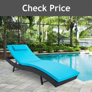 SUNCROWN Outdoor Adjustable Lounge Chair