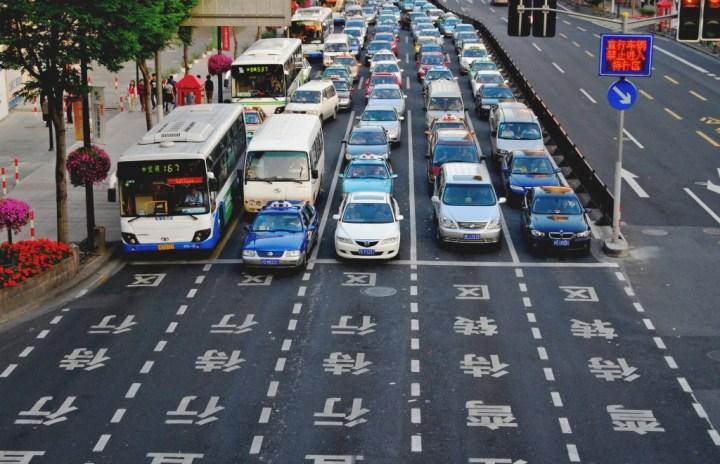 Traffic in Beijing, China.