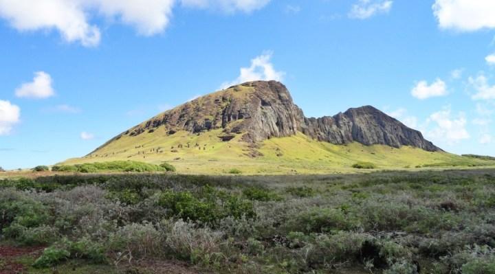 The landscape of Rapa Nui (Easter Island)