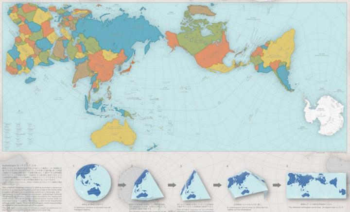 World map design by Hajime Narukawa