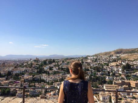 View from the battlements of the Alhambra