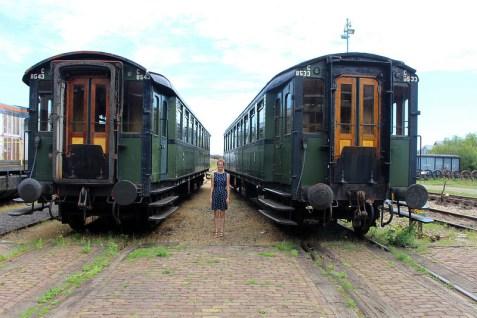 Oude stoomtreinen in Zeeland