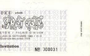 Les Stray Cats à Lyon en 83