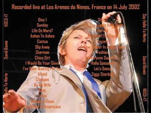 Bowie à Nîmes, bootleg