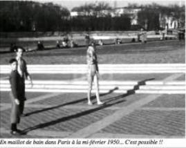Paris en maillots de bain 1950
