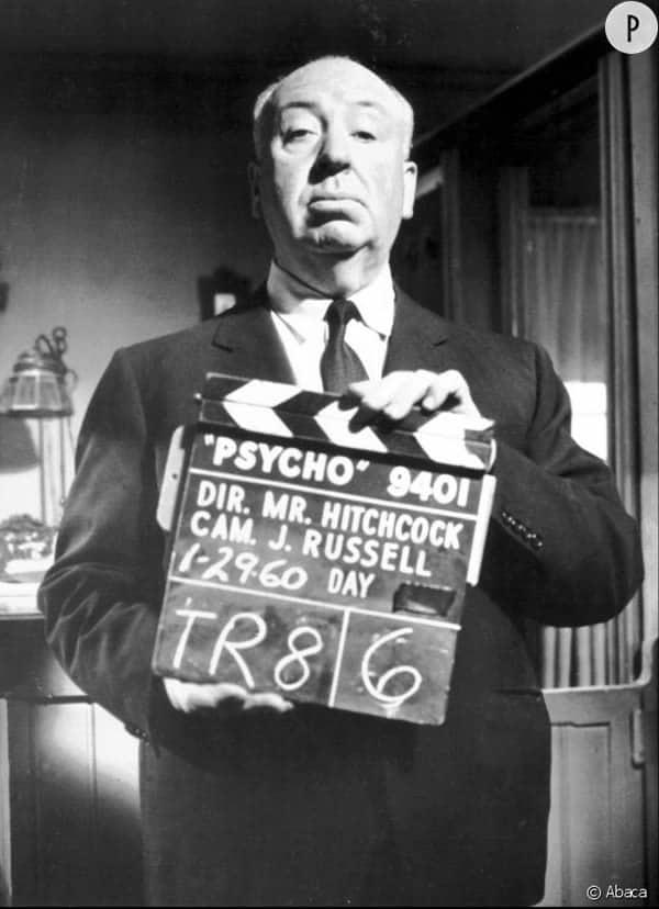 Alfred Hitchcock et le clap