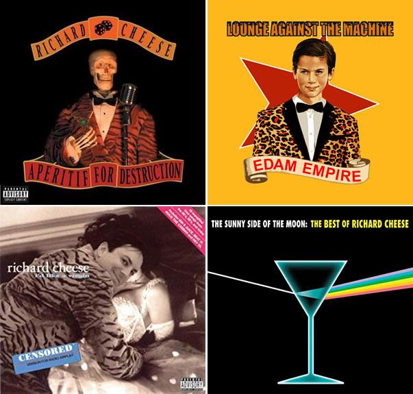 Richard Cheese, les pochettes de ses albums