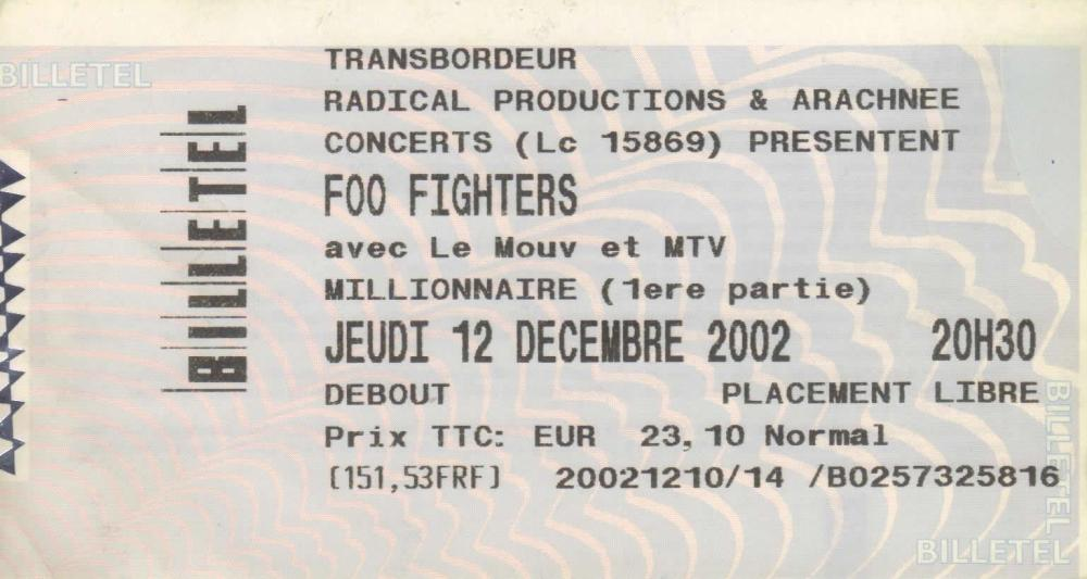 Foo Fighters au Transbordeur, Lyon, France