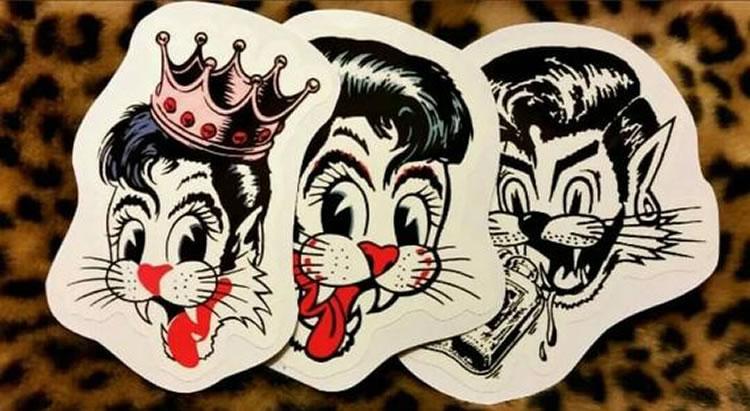 Brian Setzer en stickers
