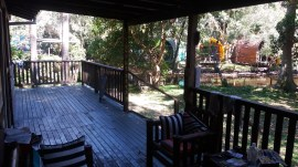 The veranda of the house in which I slept