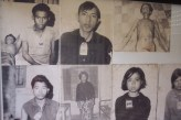 Pictures of some of the 17.000 victims.