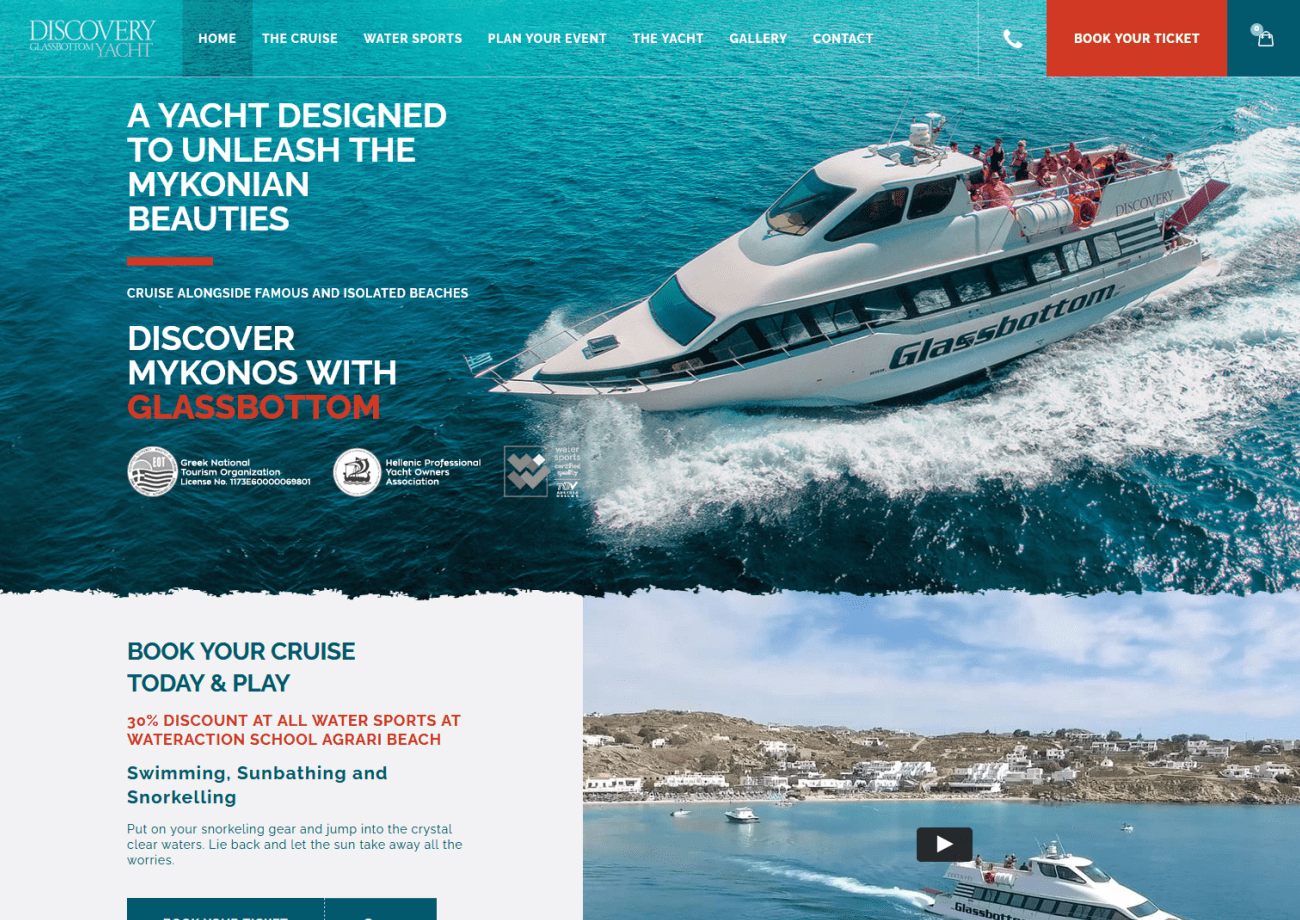 Discovery GlassBottom Yacht - Social Media & Search Engine Optimization