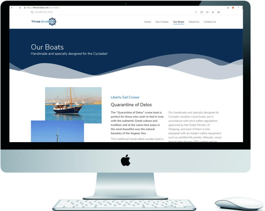 Tinos Cruises - Website Development & WordPress Management