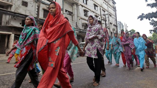 Bangladesh garment factory workers. There are fears that further attacks could seriously damage the industry