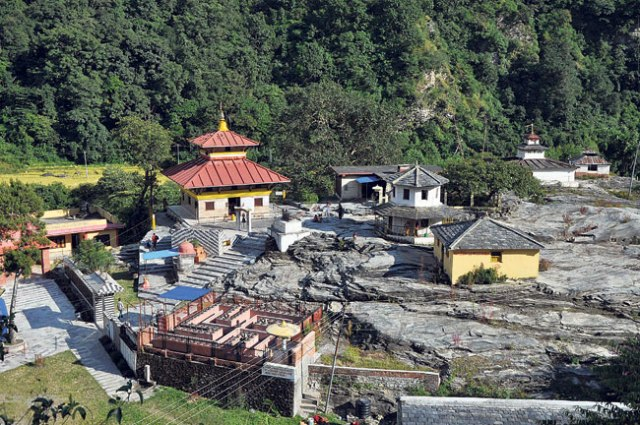 The famous holy place Galeswor Dham in Myagdi.