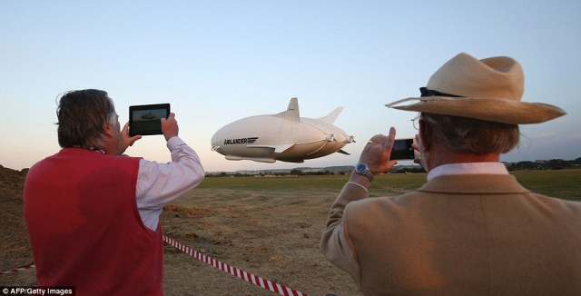 People could be seen by the side of the airfield getting pictures and footage of the momentous flight