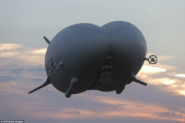 The aircraft (pictured) has been nicknamed 'the flying bum' by enthusiasts because of its unusual shape