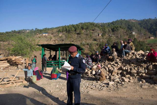 Police check posts dot roads across Rolpa [Prabhat Jha/Al Jazeera]
