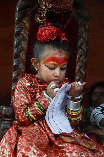 Third winning photo (C) UNESCO\Shreemila Bajracharya  Balancing act: desire to get an education and handling responsibilities.