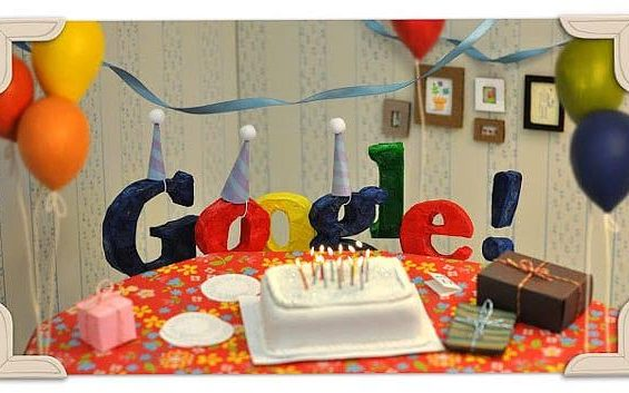 Google's 13th birthday Doodle
