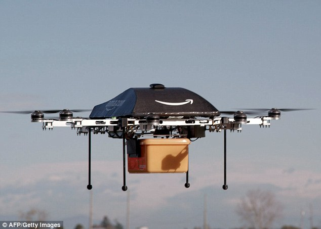 Amazon is exploring a number of ways to improve and automate its deliveries, including trialing drones to deliver parcels by air