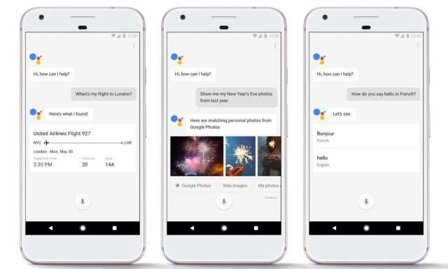 Google Assistant on the Google Pixel phone Photograph: Google