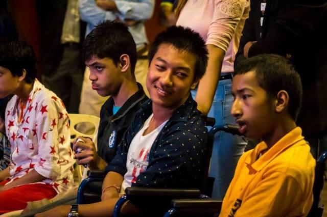 Youths of Nitin Cerebral Palsy Society enjoying the show.