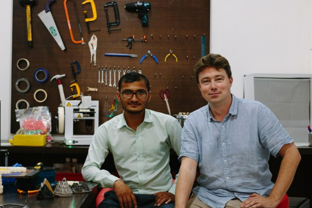 Ram (left) and Andrew (right) are part of Field Ready, an initiative which manufactures humanitarian supplies in the field through design and manufacturing technology such as 3D printers. By working with local communities to identify product requirements, critical items can be manufactured on-demand at the point of need. Andrew was the Chief Executive of Engineers Without Borders in the UK, while Ram is an engineer in design and 3D-printing.