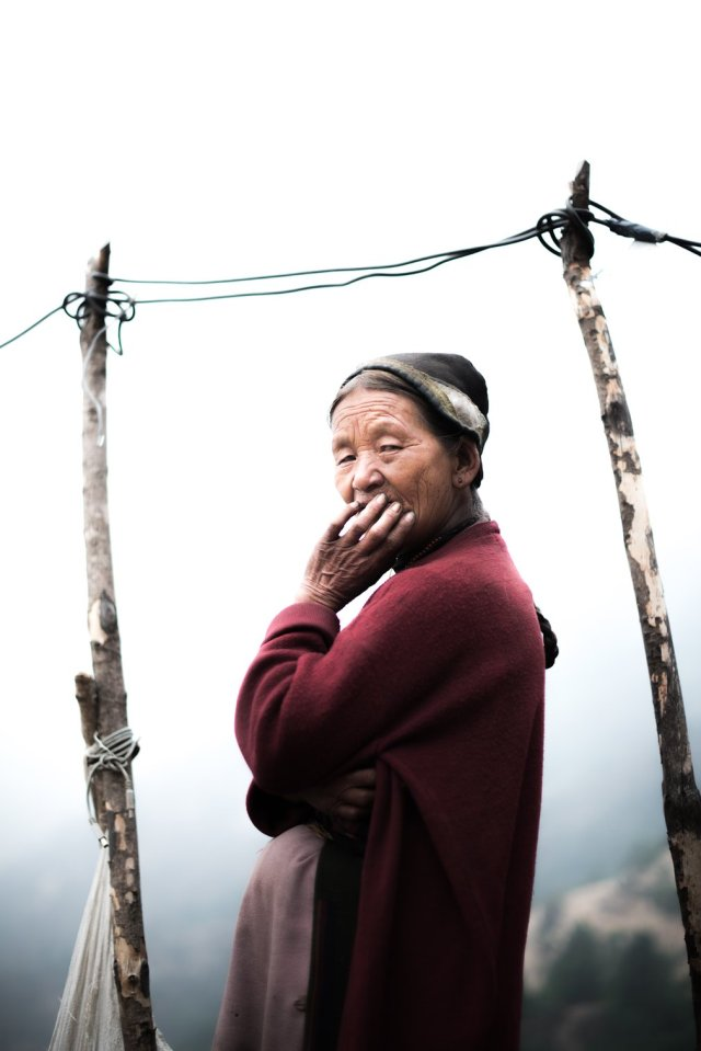 Like many others in the Langtang valley, Nyima Gyalmu Tamang from Bhanjyangaon has been living in temporary structures made of tarpaulin, corrugated iron and plastic sheets. She has no income and – as a widow who owns no land – she is ineligible for government support