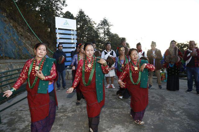 Chandragiri Cabal car officialy launching ceremony at Chandragiri Hill, Kathmandu on Thursday. POST PHOTO/PRAKASH CHANDRA TIMILSENA