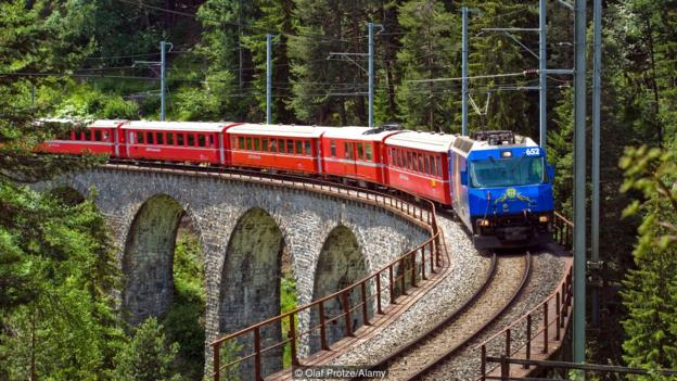 Swiss trains are highly efficient, as are the taxis (Credit: Olaf Protze/Alamy)