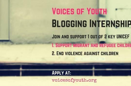 Voice Of Youth Blogging Internships