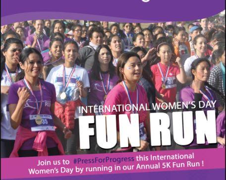 International Women's Day 5 K Fun Run 2018- Glocal Khabar