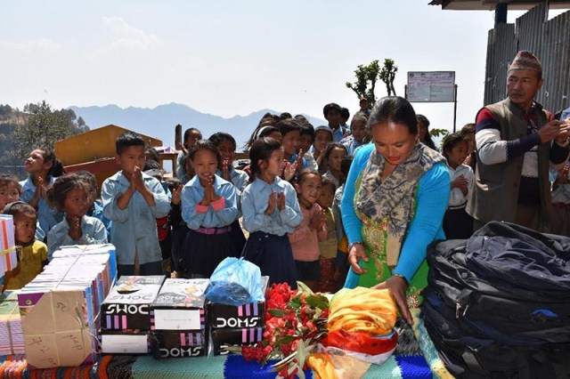 Educational Material Distributed to Over 100 Students of Rural School at Rasuwa District