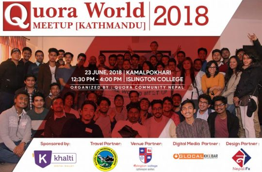 Second Quora World Meetup 2018 to be held on June 23