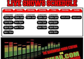 Check the schedule for your favorite LIVE show…