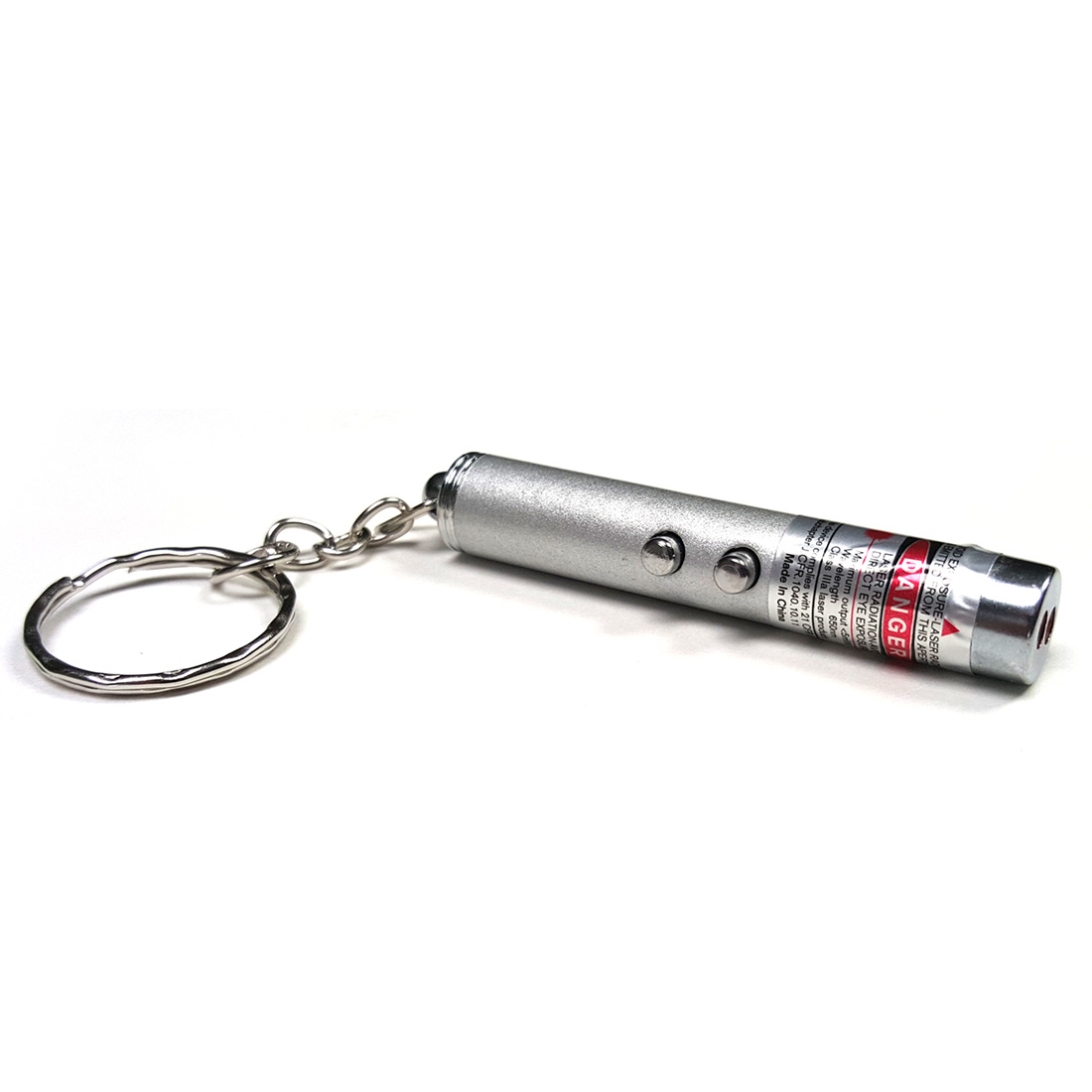 2 In 1 Micro Laser Keychain Flashlight