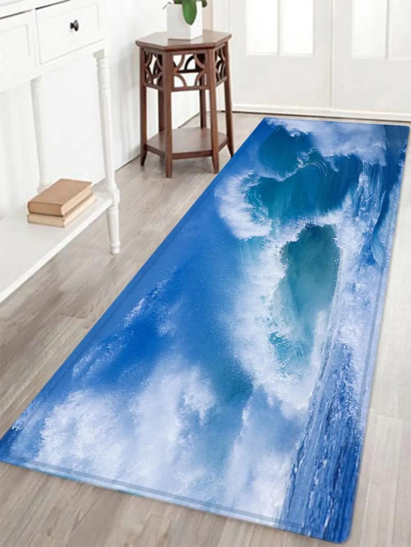 ᗚOcean Wave Pattern Indoor Outdoor Area Rug - a93