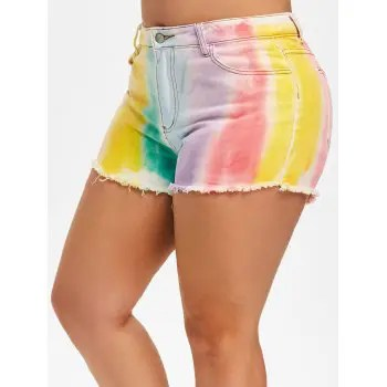 Plus Size Tie Dye Shorts