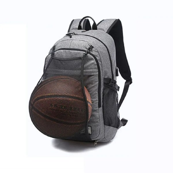 2018 Mens Canvas Basketball Football Backpack 15 Inch ...