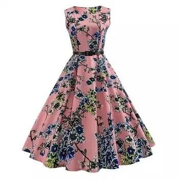 2018 Cotton Printing Women S Dress Retro Dress
