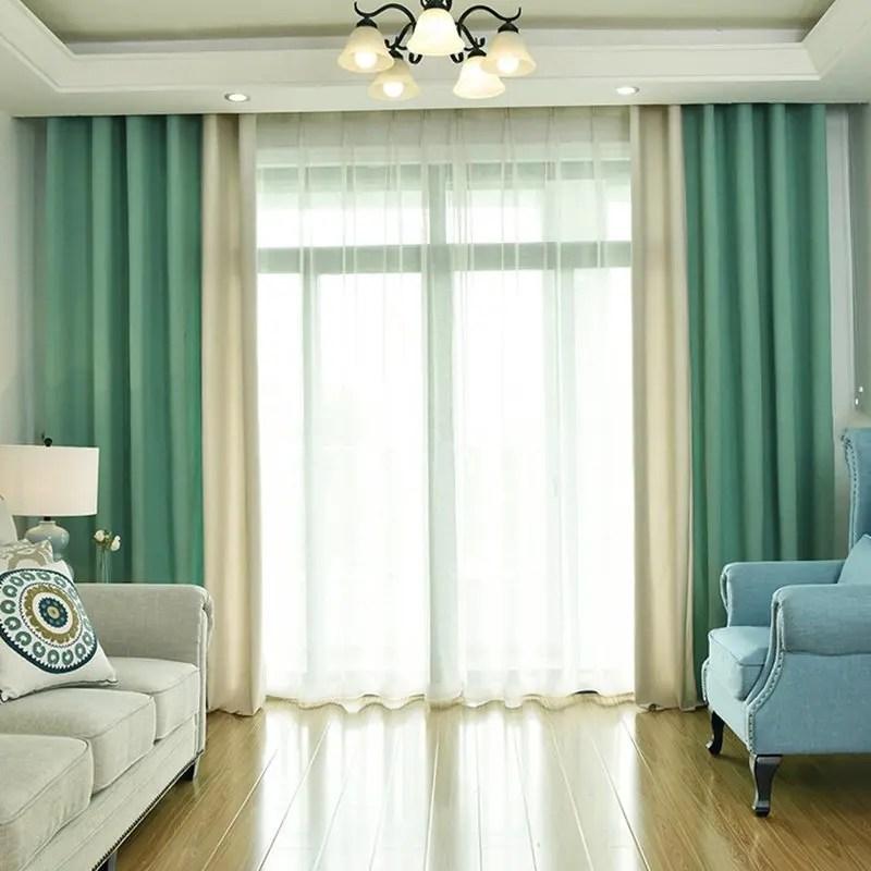 rideaux d obscurcissement de lin de couleur unie moderne pour des rideaux de fenetre de salon pour les rideaux de chambre a coucher