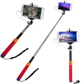 Fashionable RC Self Timer Stretch Camera Monopod with Clip Stand and 3.5mm Audio Cable