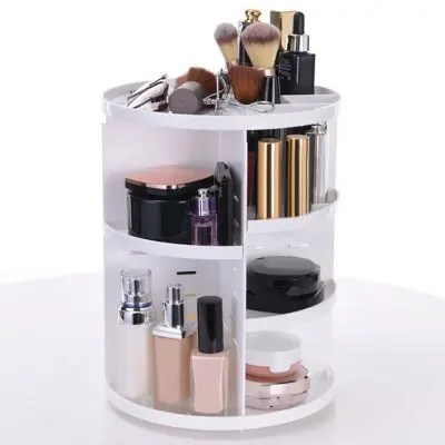 360 Degree Rotating Round Cosmetic Storage Rack