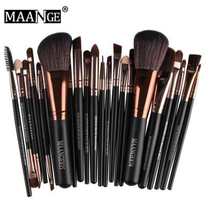 Gearbest MAANGE 22pcs Foundation Blush Eyebrow Lip Makeup Brushes