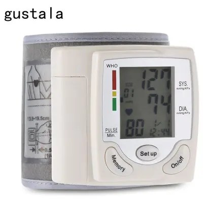 gustala CK-101S Health Care Wrist Portable Digital Automatic Blood Pressure Monitor