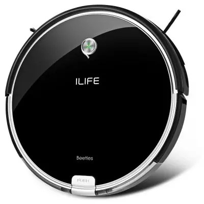 Gearbest ILIFE A6 Smart Robotic Vacuum Cleaner - EU PLUG PIANO BLACK Intelligent Remote Control Sweeping Robot Invisible Wall