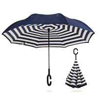 Printed Windproof Inverted Umbrella for Car