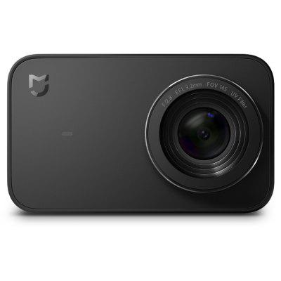 Gearbest Xiaomi Mijia Camera Mini 4K 30fps Action Camera Touch Screen - BLACK 7 Glass Lens Six-axis EIS 145 Degree Ultra Wide Angle
